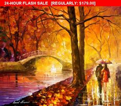 OIL ON CANVAS PAINTING DIRECTLY FROM FAMOUS ARTIST LEONID AFREMOV  Title: Dreaming Emotions Size: Variable Condition: Excellent Brand new Gallery Estimated Value: $ 5,500  Type: Original Recreation Oil Painting on Canvas by Palette Knife  This is a recreation of a piece which was already sold.  Its not an identical copy, its a recreation of an old subject. This recreation will have texture unique just to this painting, a fingerprint that can never be repeated. My recreation will look similar…