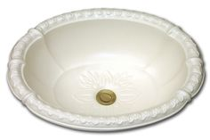 ND: fluted oval romanesque relief rim and drain