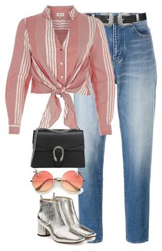 """""""Sin título #1359"""" by osnapitzvic ❤ liked on Polyvore featuring Yves Saint Laurent, Topshop, River Island, Gucci and Marc Jacobs"""