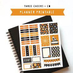 Free Printable Halloween Planner Stickers - Great for Erin Condren Life Planners!