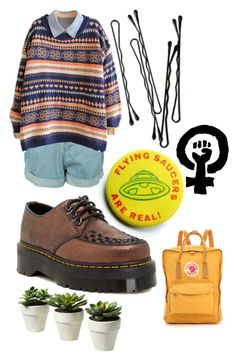 """Art hoe, ish?"" by its-aoife ❤ liked on Polyvore featuring Dr. Martens, BOBBY and Fjällräven"