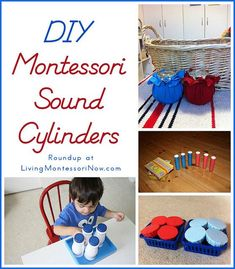 If you want to prepare some Montessori materials for a homeschool or preschool, a sensorial material that can be created easily and inexpensively is a set of sound cylinders.