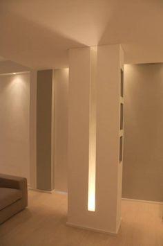 64 Ideas For Ceiling Lighting Design Diy Columns Decor, Interior Columns, Ceiling Light Design, Lighting Design, Blitz Design, Plafond Design, Column Design, Wall Lights, Ceiling Lights