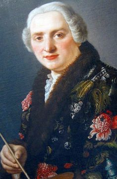 Sartorial Brocade Selfie! Sebastiano Ceccarini (1703–1783), born in Fano, an Italian Baroque painter. He was a student of Francesco Mancini and the teacher of his nephew Carlo Magini.