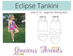 Eclipse tankini de Gracious Threads, maillot de bain enfant