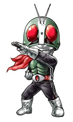 Kamen Rider - chibi / super deformed Japanese character