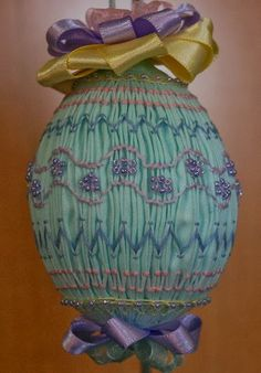 St. Anne Quilting and Sewing: Smocked Easter Egg with beads