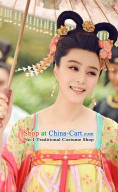Ancient Chinese Female Emperor Wu Zetian Hair Accessories Complete Set rental set traditional buy purchase on sale shop supplies supply sets equipemnt equipments Wu Zetian, Fan Bingbing, Traditional Fashion, Traditional Dresses, Traditional Chinese, The Empress Of China, Kanzashi, China Dolls, We Are The World