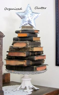 Nativity & A Stacked Bible Christmas Tree Stacked Bible Christmas Tree & the Nativity Set anizedclutterqueen.Stacked Bible Christmas Tree & the Nativity Set anizedclutterqueen. Book Christmas Tree, Merry Christmas, Black Christmas, Rustic Christmas, All Things Christmas, Vintage Christmas, Christmas Holidays, Christmas Crafts, Christmas Decorations