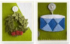 Inchmark's Felt Advent calendar. Completely adorable.
