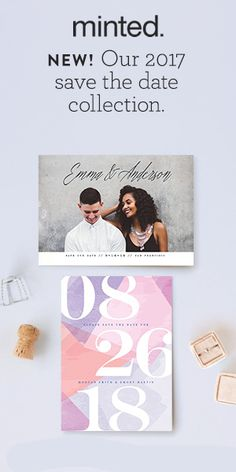 Save the Date! Share the news with loved one's with Minted's 2017 collection of Save the Date card designs. Created by our community of independent artists.