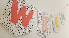 Name bunting / rainbow name bunting / personalised bunting / children' – And so to Shop