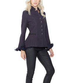 Look at this #zulilyfind! Purple Hi-Low Jacket #zulilyfinds