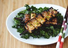 jan 20 miso glazed eggplant kebabs with kale seaweed salad miso glazed ...