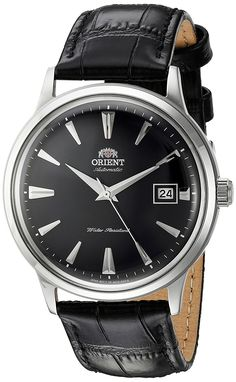 3f04409c46c1 Amazon.com  Orient Men s  2nd Gen. Bambino Ver. 1  Japanese Automatic  Stainless Steel and Leather Dress Watch