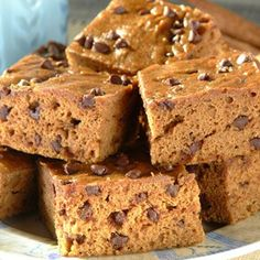 Pumpkin Chocolate Brownies - use only 1 egg, add 2 scoops Body by Vi and use 1 packet Chocolate Vi.