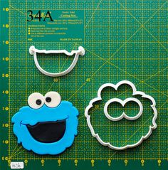 Cookie Monster Cookie Cutter.The cookie cutters let you make beautiful cookies EASY. Please follow me and REPIN the cookie cutters on my board ,also you can click the LIKE button, or share it to you friends,thank you very much.Best wishes for you !