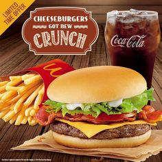 Would you like some bacon with that? Try the NEW Bacon Cheeseburger Deluxe with your fave McDo Fries and drink today!