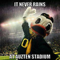 It never rains at Auzten Stadium