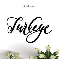 Turkeye script font available on Fontbundles.net #fonts Script Fonts, New Fonts, Typography Letters, Lettering, Geometric Font, Vintage Fonts, Beautiful Fonts, Premium Fonts, Cool Fonts