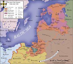 Estado Monárquico de la Orden Teutónica luego de 1466