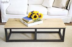 DIY industrial table with Antique Bronze and Black Pearl Metallic Paints by Modern Masters | Honeybear Lane Project