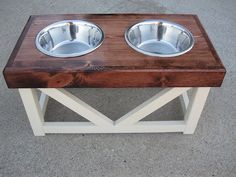 Large+Dog++Food+&+Water+Stand+by+BurleyBiscuits+on+Etsy,+$69.95