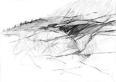 Abstract Pencil Landscape, Pencil Drawing, Abstract Pencil Sketch, Modern Art…