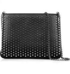Christian Louboutin - Triloubi spiked leather shoulder bag - Christian Louboutin…