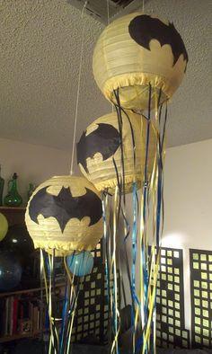 a work in progress: Fast & Easy DIY Pull-String Pinata Tutorial - Batman Party - Ideas of Batman Party - a work in progress: Fast & Easy DIY Pull-String Pinata Tutorial Batman Pinata, Lego Batman Party, Batman Birthday, Superhero Birthday Party, 6th Birthday Parties, Boy Birthday, Birthday Ideas, Elmo Party, Batgirl Party