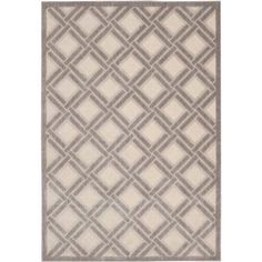Nourison Graphic Illusions Crisscross Decorative Rug, Ivory, White
