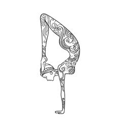 Yoga position meditation zentangle vector