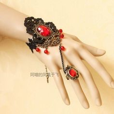 악세사리모음17 : 네이버 카페 Loc Jewelry, Handmade Jewelry Bracelets, Hand Jewelry, Cute Jewelry, Jewelery, Jewelry Accessories, Fashion Accessories, Women Jewelry, Gothic Mode