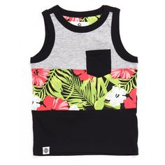 cut sew tropical tank (2t-4t) by Akademiks (13.195 CLP) ❤ liked on Polyvore featuring tops and akademiks