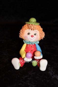 Clown Cake Topper. Circus Theme Party Favor. by CakeTASTICsupply, $30.00