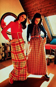 maxi skirts circa 1969! my grandma said they were in style around that time...