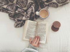 beautyofb00ks:   Tea, books, a snack and a warm... / Tea, Coffee, and Books