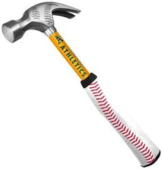 MLB Oakland Athletics 16-Ounce Curve Claw Hammer with Steel Handle