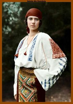 The Romanian Traditional Costume - A Royal Outfit Romanian Royal Family, Romanian Girls, Folk Clothing, Royal Clothing, Traditional Fashion, Traditional Dresses, Folk Costume, Costumes, European Girls