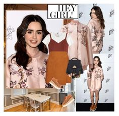 """Lily Collins : )"" by thisiswhoireallyam7 ❤ liked on Polyvore featuring STELLA McCARTNEY, Neil Barrett, MSGM, The Volon, Kevyn Aucoin, Guerlain, NARS Cosmetics, Yves Saint Laurent, Tom Ford and floralprint"