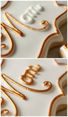 Painting royal icing gold and silver...and the best gold and silver lustre dusts
