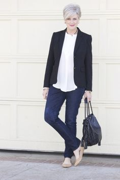 like the vibe -- wish I could find a shade of white that doesn't make me look dead  | Style at a certain age