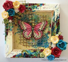 Mixed Media Reversed Canvas Tutorial by Natalie May   Lindy's Stamp Gang