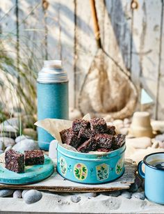 Chewy chocolate and cherry flapjacks - These sweet treats are great to pack for a long car journey