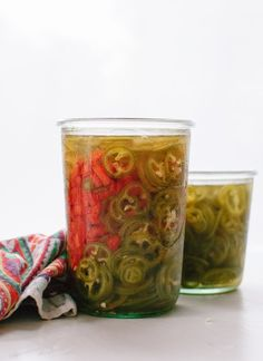 Learn how to make spicy and sweet, gourmet jalapeño and bell pepper pickles! It's super easy and the pickles will keep in the refrigerator for months.