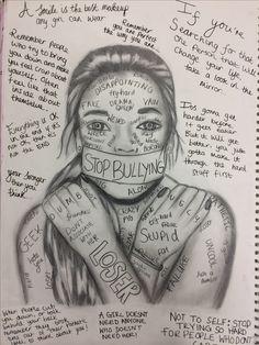 drawing easy beginners sad depression drawings pencil kristina bullying meaningful sketches dark webb disegni words anti dibujos mahi khan bullismo