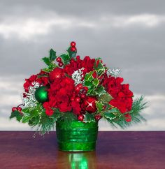 'Tis the Season Christmas Centerpiece (CA509) - Christmas Arrangement
