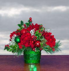 'Tis the Season Christmas Centerpiece - Christmas Arrangement