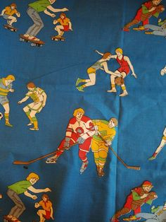 Vintage Multicolor Cotton Youth Sports Print Fabric 2.5 Yards 44  SOCCER TENNIS HOCKEY FOOTBALL SKATEBOARDING VF1  Medium weight Cotton printed with a variety of sports.  No damage. See phot...   https://nemb.ly/p/EJIi8JO6_ Happily published via Nembol