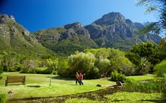 Kirstenbosch National Botanical Garden: If ever a part of the world had botanical garden potential, it would be South Africa's Cape Floral Kingdom. The lush region, containing vast scrubland flecked with vivid pink and yellow and red, hosts 20 percent of Africa's flora.